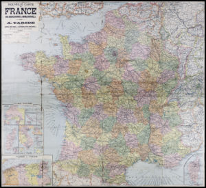 C. 1920 map of France