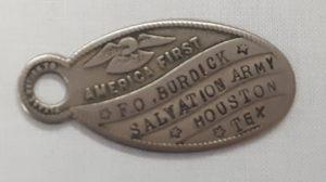Silver metal identification tag