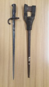 Sword style bayonet and scabbard