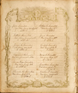 Record of Saunders family births