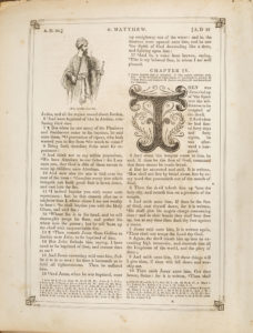 Page from Saunders Burdick Family Bible