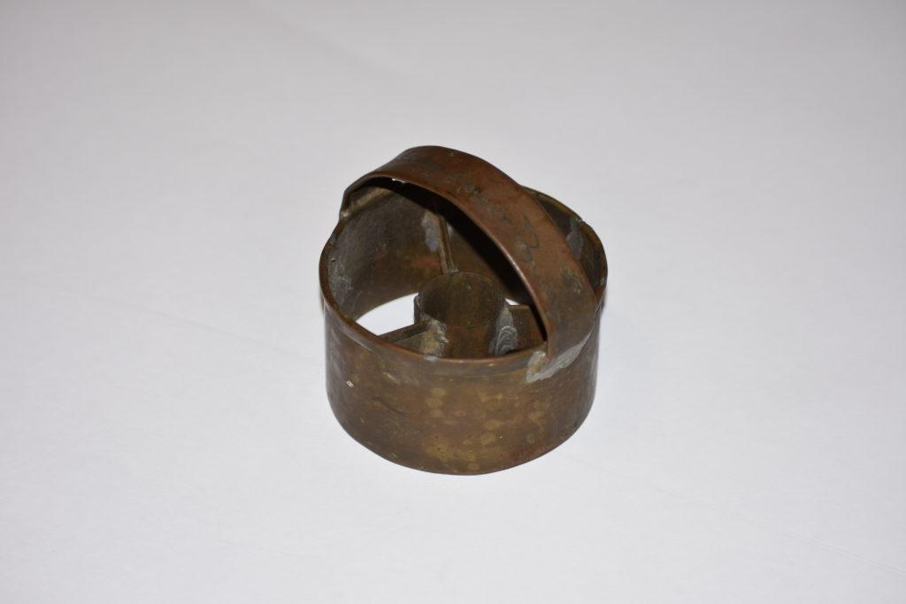 Brass trench art doughnut cutter made 1917-1918