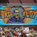 Mural honoring George Floyd in Minneapolis, MN