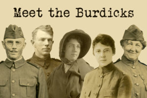 Photo collage of Burdick Family with text Meet the Burdicks