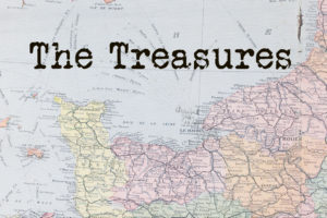 "Map of France with text ""The Treasures"""