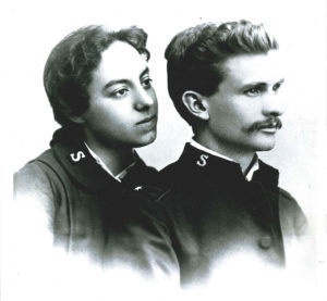 Photograph of a young married couple