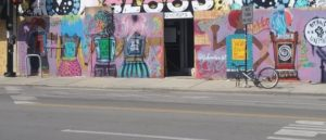 Colorful mural of Black women united